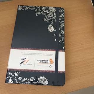 Singapore Airlines 70th Anniversary Moleskine Notebook