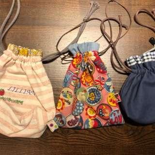 🚚 🏡 L House 🏡 手工縫製束口袋~超可愛還可繡名字!獨一無二絕對值得擁有❤️