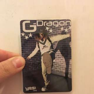 G-Dragon 權志龍 Jiyoung Kwon BIG BANG VIP 膠卡 YESCARD