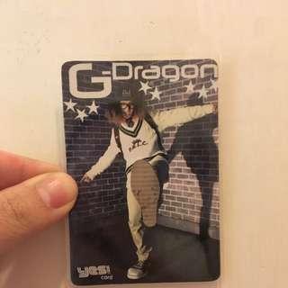 G-Dragon 權志龍 Jiyoung Kwon BIG BANG VIP 膠卡 YESCARD