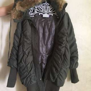 Long Gray Jacket with fur