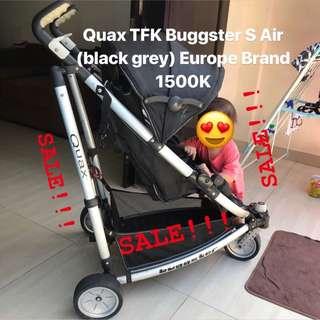 Stroller Quax TFK Buggster S Air (black grey) Europe Brand