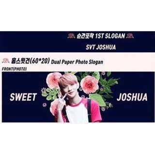Seventeen 韓站Ptm_svt 1st Joshua飯製手幅