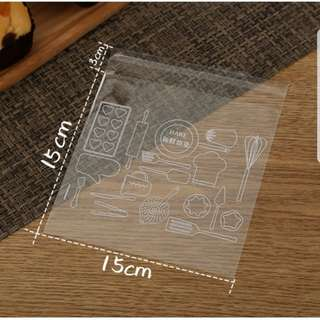 New Clear Baking Tools Design Cookie Plastic Pouch 15cm