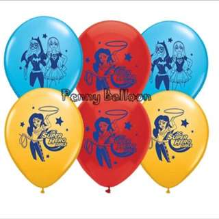 💥 Superhero Girls party supplies - latex balloons / party balloons / party deco