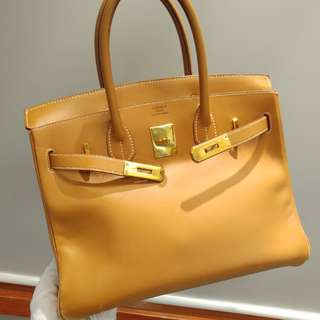 Hermes birkin 30 box gold