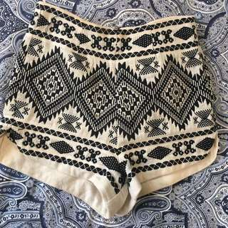 MNG embroidered high waist shorts