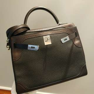 Hermes kelly 32 ghillies T stamp in black
