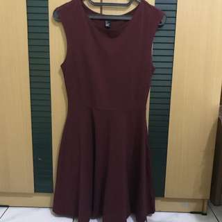 Forever 21 Maroon Dress