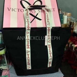Authentic VICTORIA'S SECRET 2017 Zipper Canvas Tote Bag