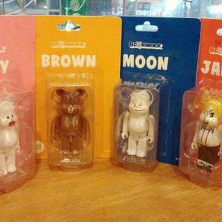 禮物 Medicom Toy Bearbrick Line Be@rbrick Moon Brown James Cony