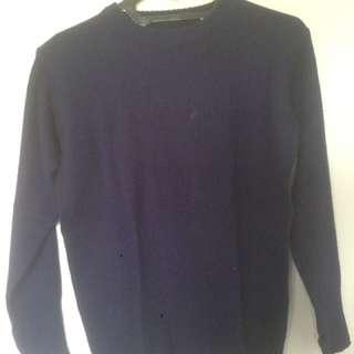 Knit wear dark blue