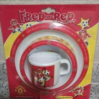 Manchester United 3 Piece Melamine Set
