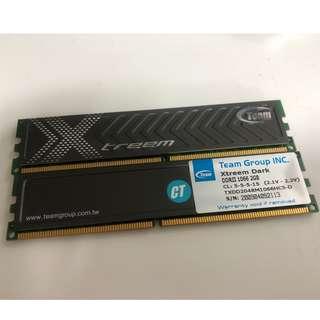 2 x DDR2 1066Mhz 2GB Ram By Team Group Xtream Dark
