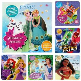 Little Kid Activity Book W Sticker - SWR870  Size: 20*20cm  Page: 32 pages + 2 sticker pages  Series: Frozen, Moana, Whisker Haven, PJ Mask, princess