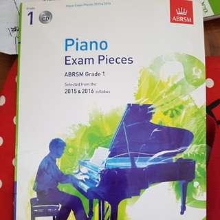 ABRSM Grade 1 Piano exam pieces