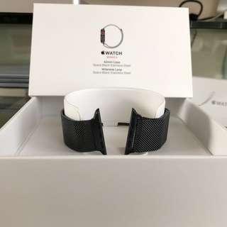 Milanese Loop 42 mm ( for Apple Watch )- Space Black Stainless steel