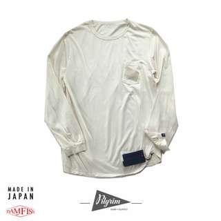 <全新正品>日本帶回【Pilgrim Surf+Supply】聯名款 nonnative Logo長袖T恤 白色M現貨