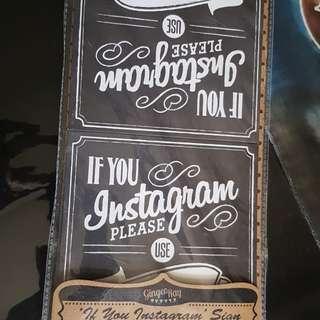 Instagram chalkboard style sign