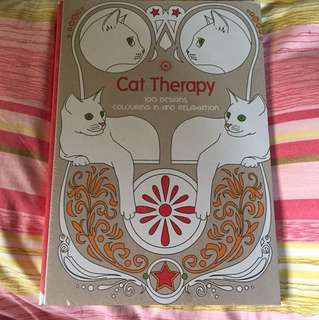 Cat Therapy Adult Coloring Book
