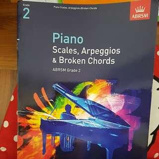 Piano scales, Arpeggios & broken chords ABRSM Grade 2