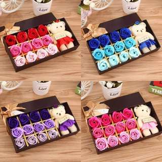 12pcs Flower Soap Valentine Gift