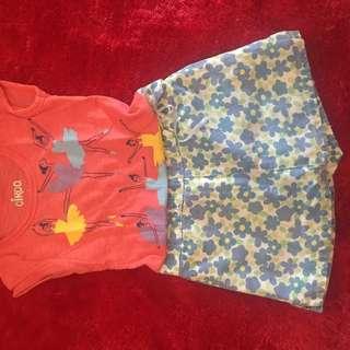 PRELOVED rok celana DISNEY flower anak
