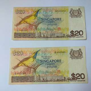 Bird series - $20 Note