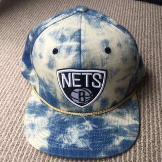 Authentic Mitchell & Ness Brooklyn Nets Snapback