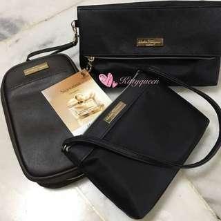 Salvatore Ferragamo Singapore airlines parfums pouch
