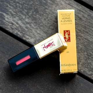 YSL Lipstick Rouge Pur Couture #44 Vernis A Leveres glossy  stain