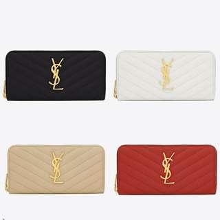 YSL Monogram Zip Around Wallet