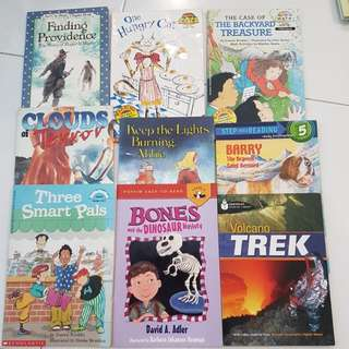 9 children books including Nat Geo, Hello Math, I Can Read etc