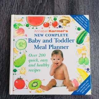 Baby and toddler meal plan
