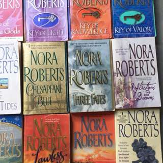Nora Roberts books, all of it for 800