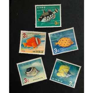 早期琉球群島紀念郵票一套。全新