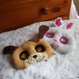 Bunny rabbit and puppy masks