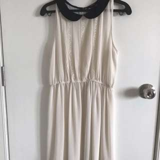 Forever 21 sheer cream dress