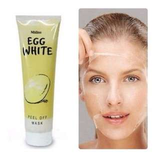 EGG WHITE Whitening and Anti - blackhead Peel Off Face Mask 85g