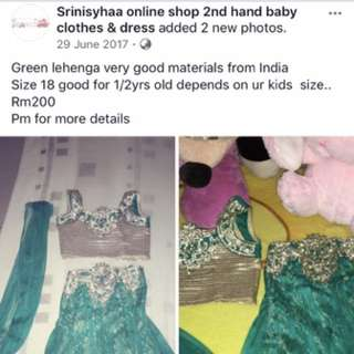 Green lengha from india