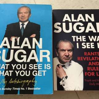 Alan Sugar Bundle books (x2)