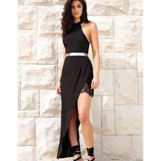 Black Maxi Lace Dress