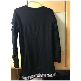 Catalog black cotton tee M size