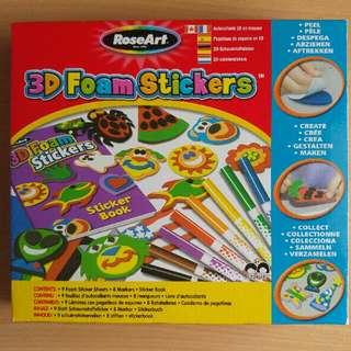$4.90 3D Foam Stickers With Sticker Book