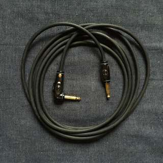 """D'Addario Planet Waves PW-AG Circuit Breaker 1/4"""" Right-angled Instrument Cable"""