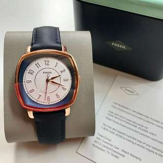 Fossil#ES4197Leather Navy