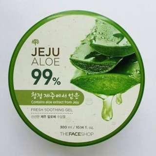(PRELOVED) The Face Shop Jeju Aloe 99% Fresh Sooting Gel