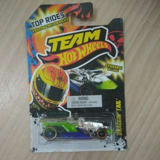 Team Hot Wheels Draggin Tail (Stickers Included)