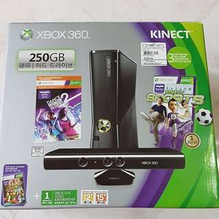 XBOX 360 KINECT 250 GB GAME CONSOLE WITH GAMES