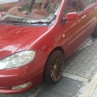 CNY Rental of Toyota Corolla Altis 1.6A